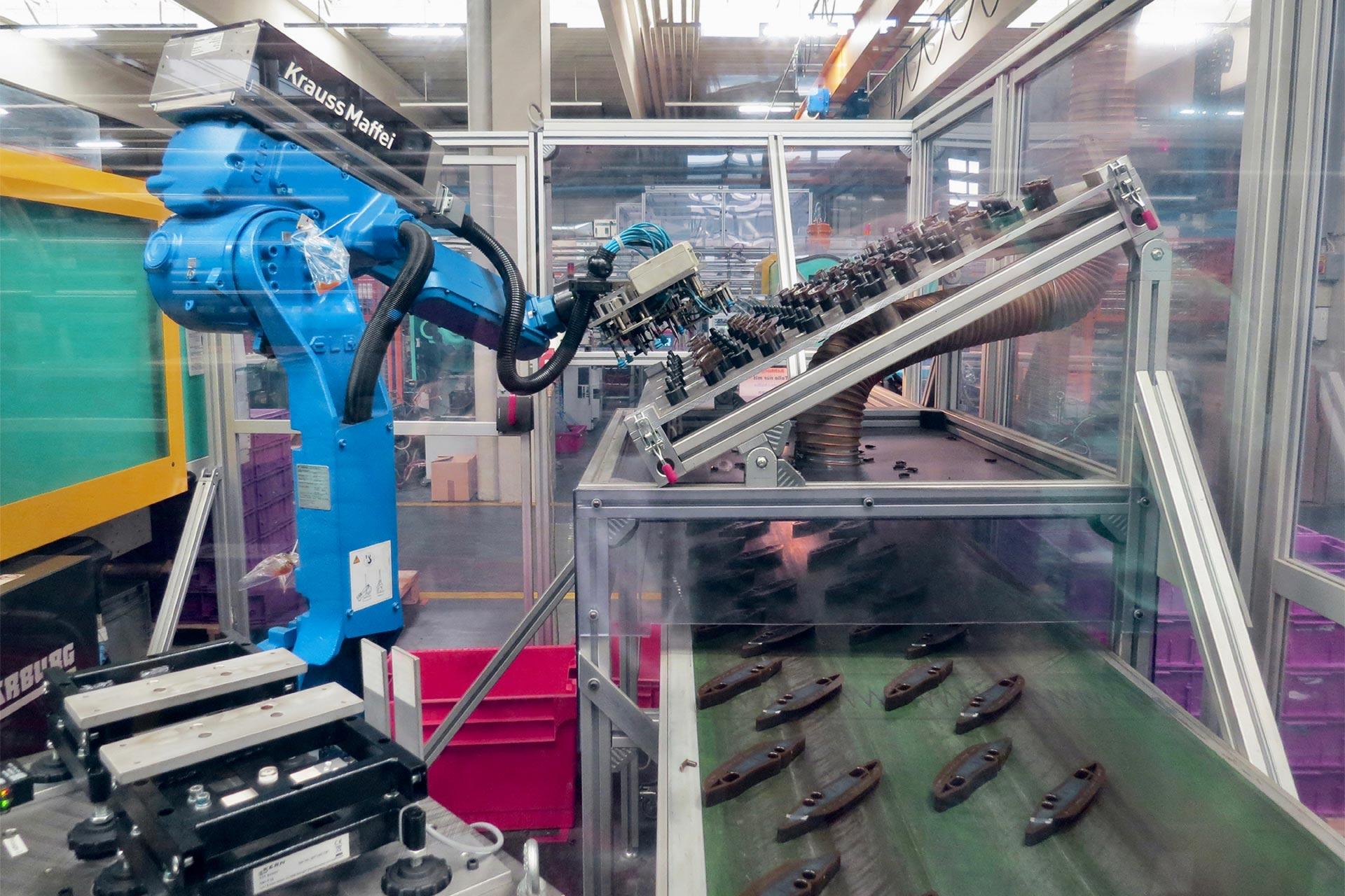Kontrollwaagen steuern Roboter