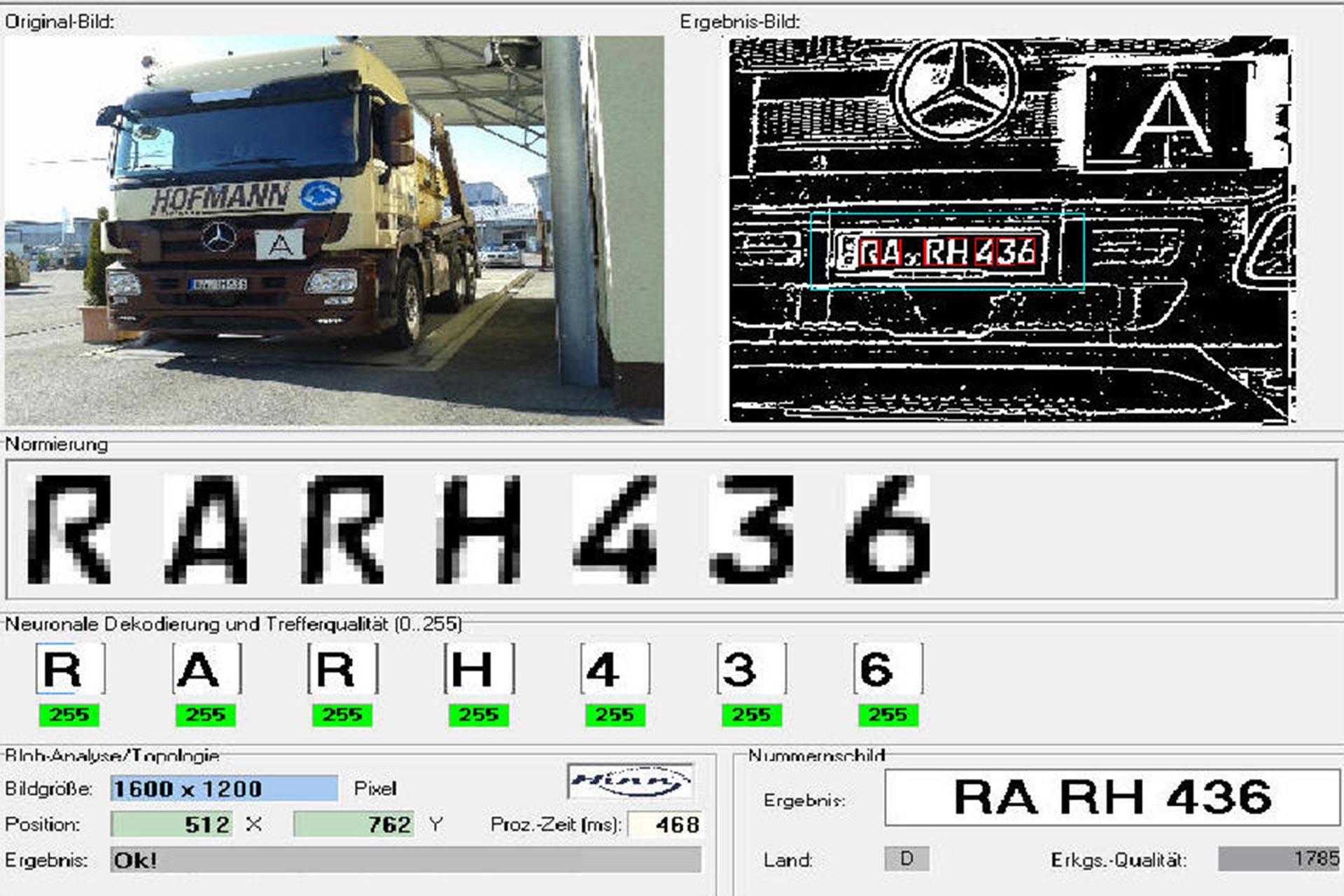 Automatische Kennzeichen-Erkennung für Fahrzeugwaagen