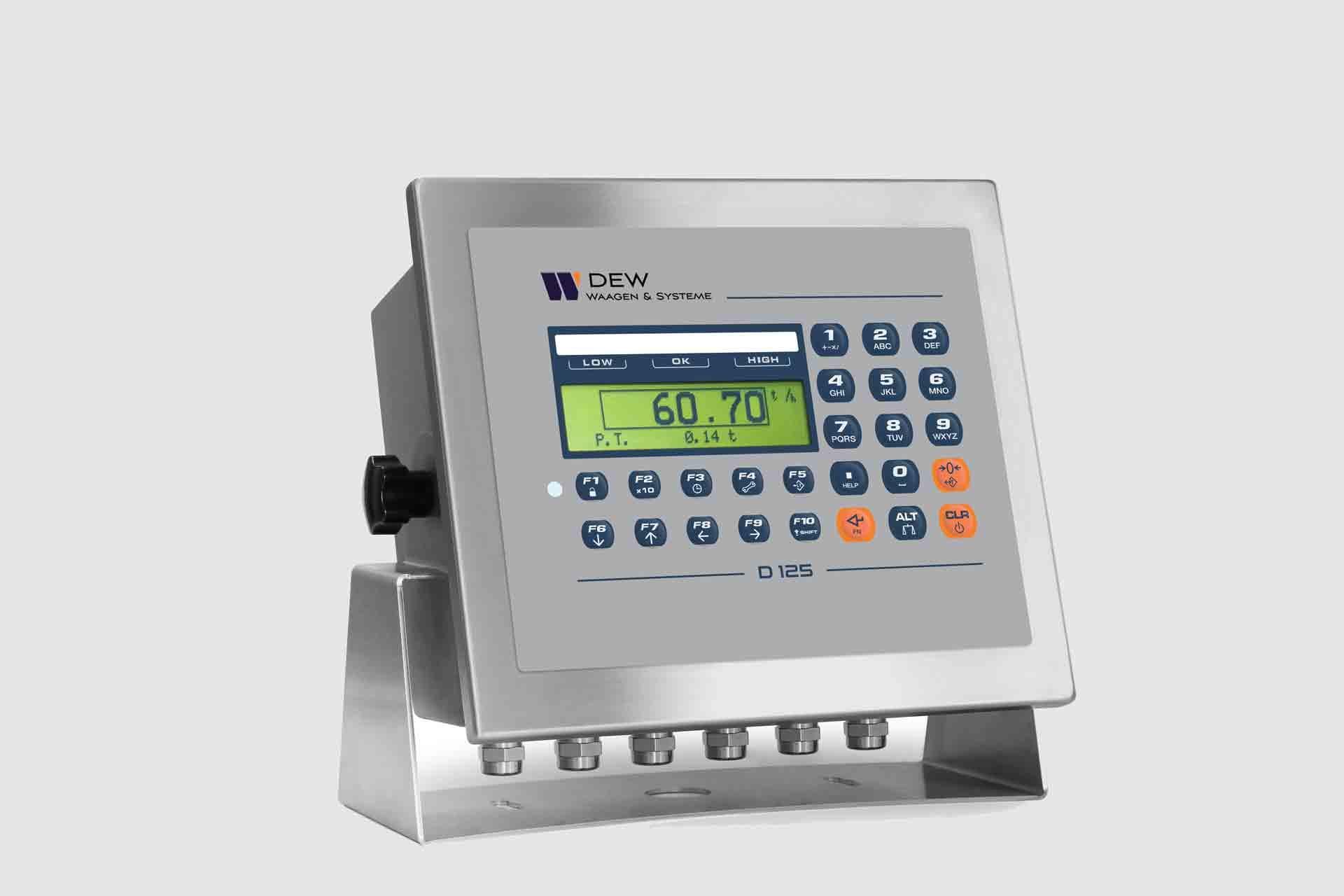 Digitale Gewichtsanzeige mit Tastatur