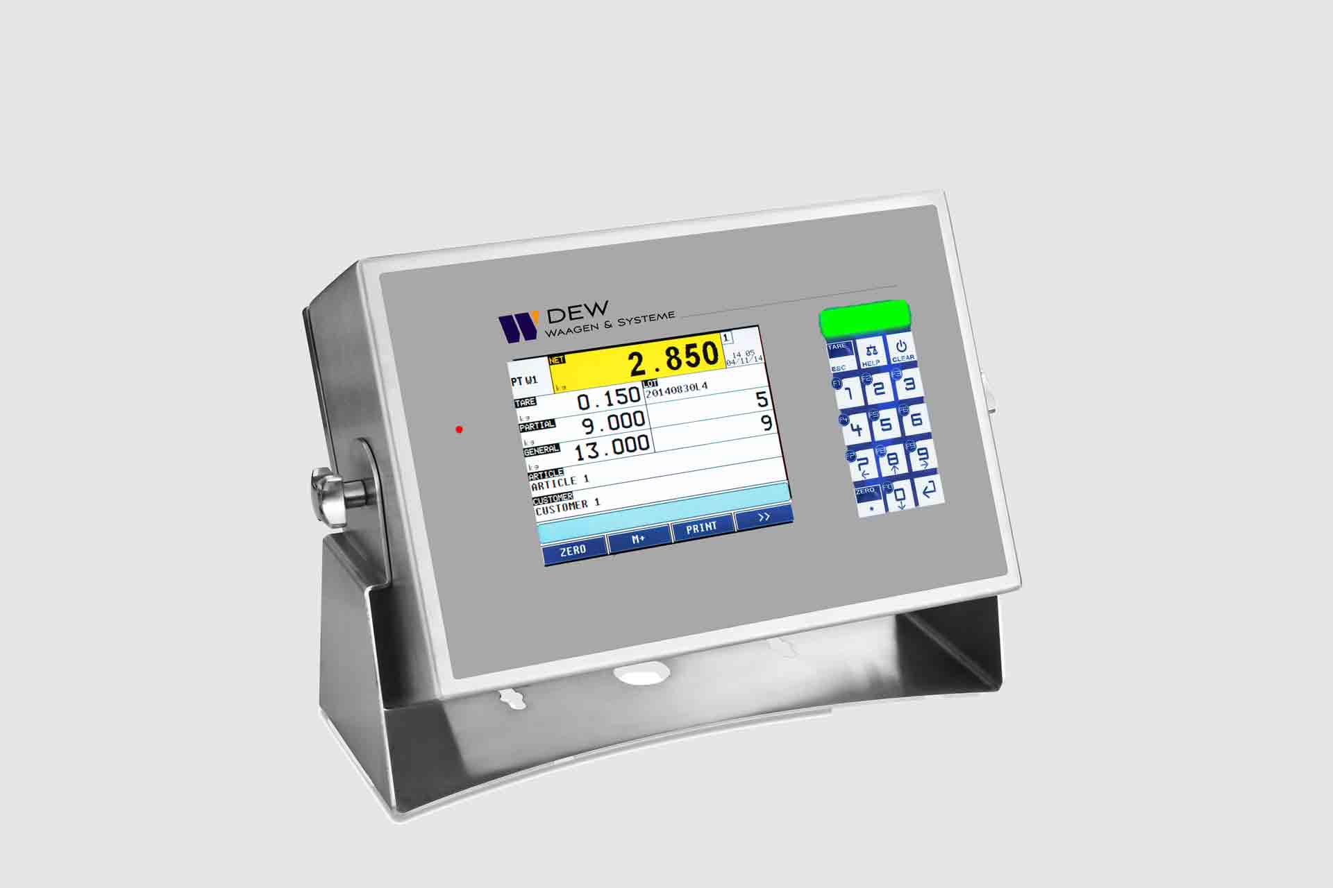 Digitale Gewichtsanzeige mit Touchdisplay