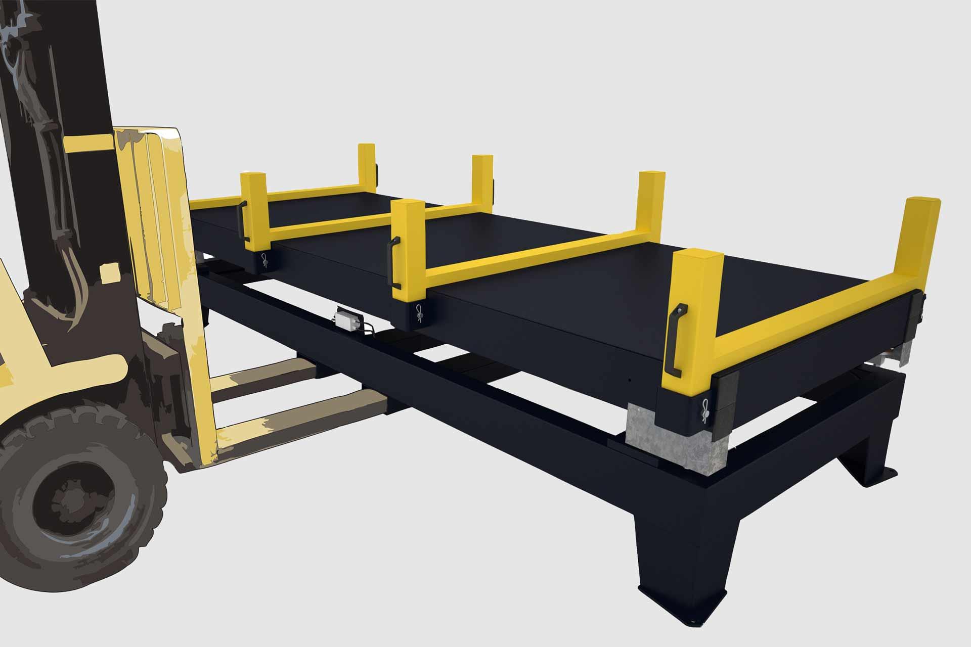Plattformwaagen für Metall - im Einsatz