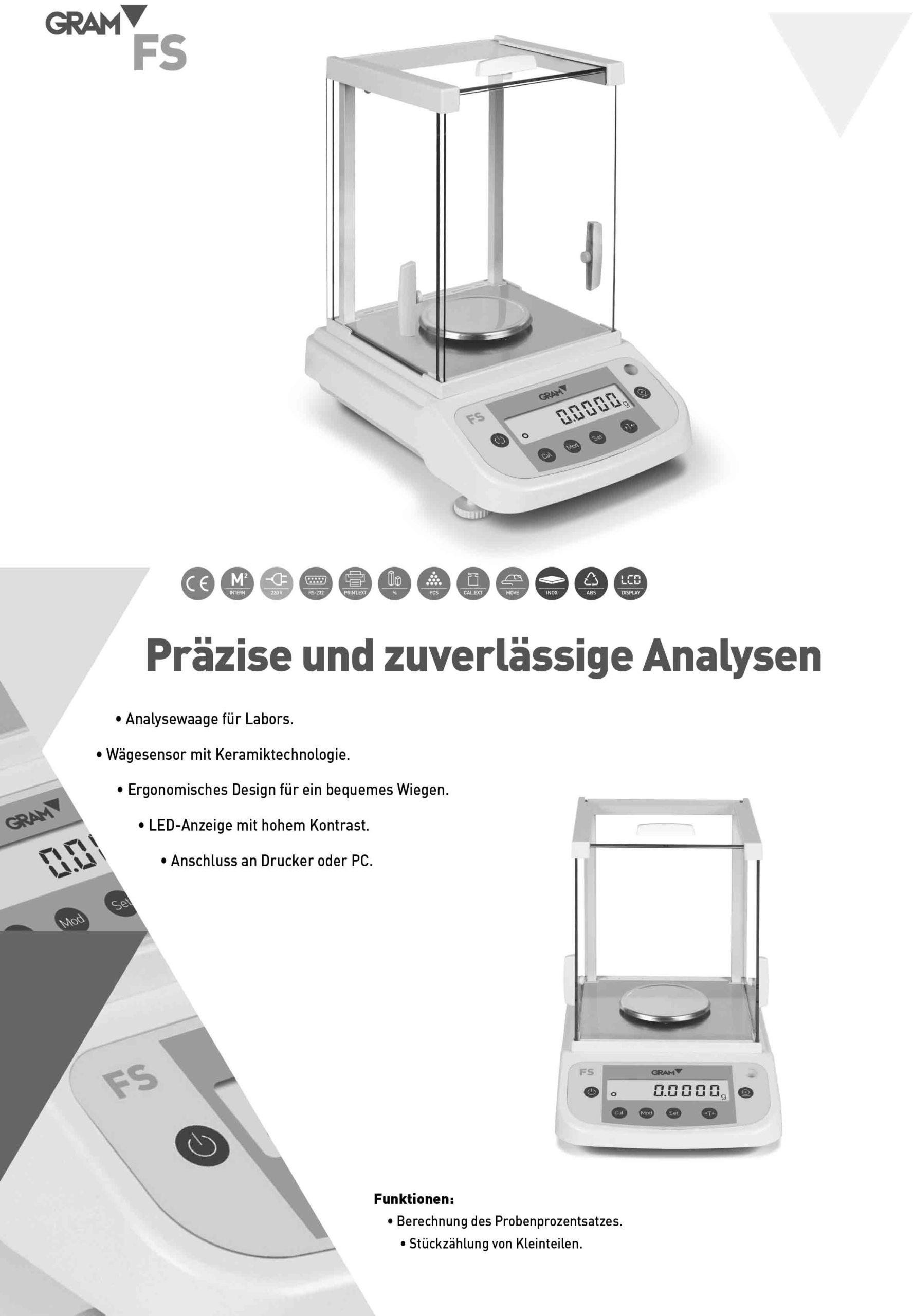 Analysenwaagen und Präzisionswaagen - Broschüre