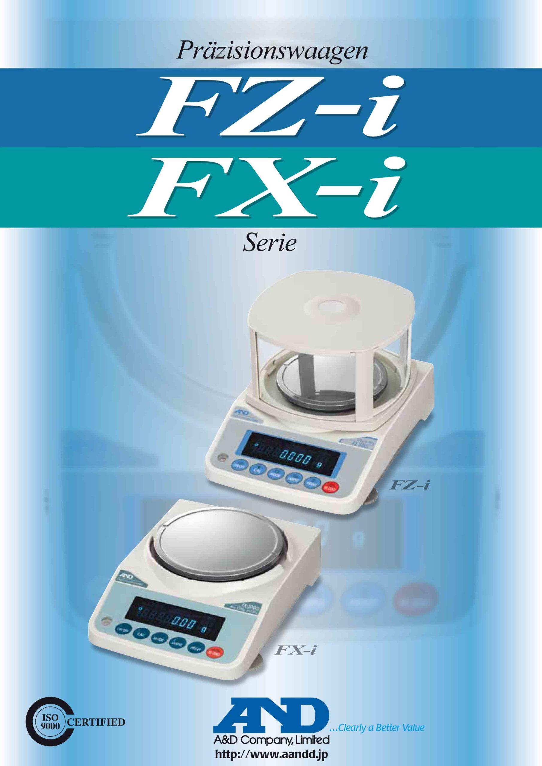 Analysenwaagen und Präzisisonswaagen - A&D FZ-i und FX-i